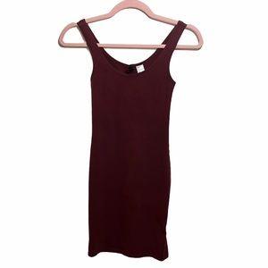 Divided by H&M Burgundy Bodycon Mini Dress